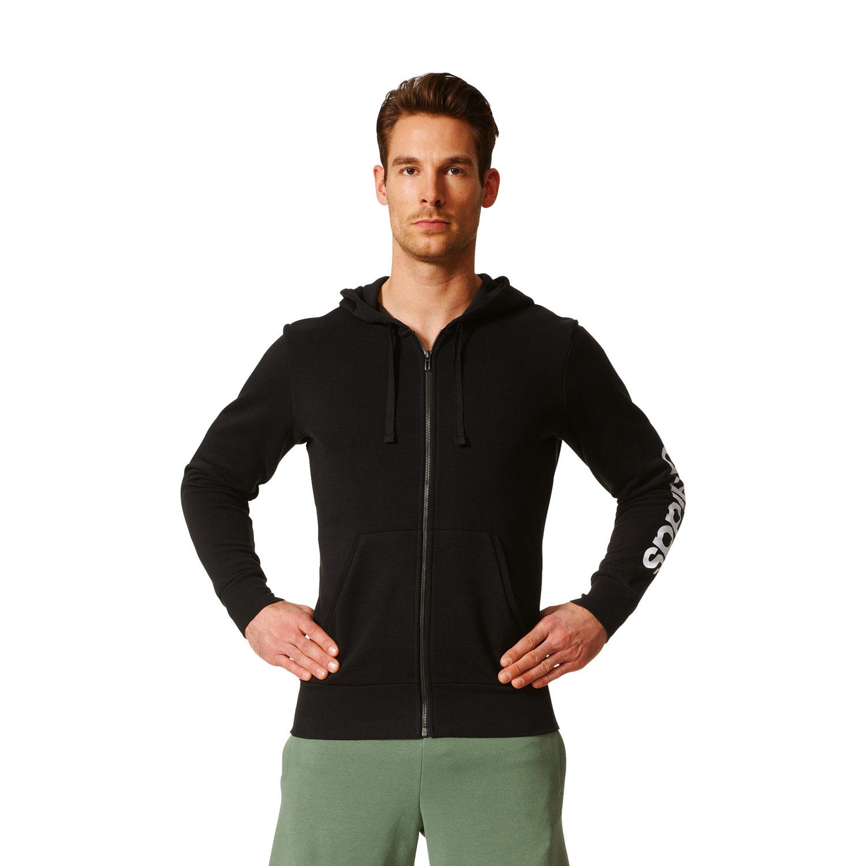 Adidas Essentials Linear Hoody Herren Kapuzenjacke – Bild 3
