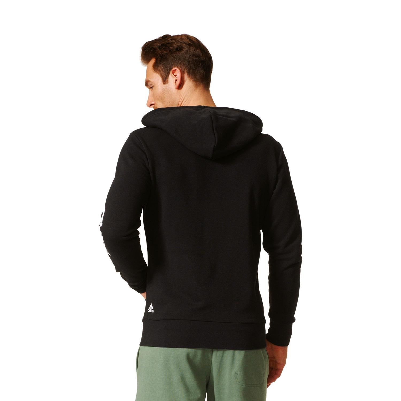 Adidas Essentials Linear Hoody Herren Kapuzenjacke – Bild 5