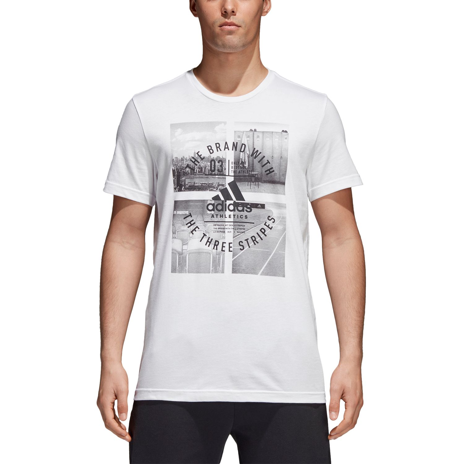 adidas Athletic Vibe M Herren T-Shirt – Bild 2