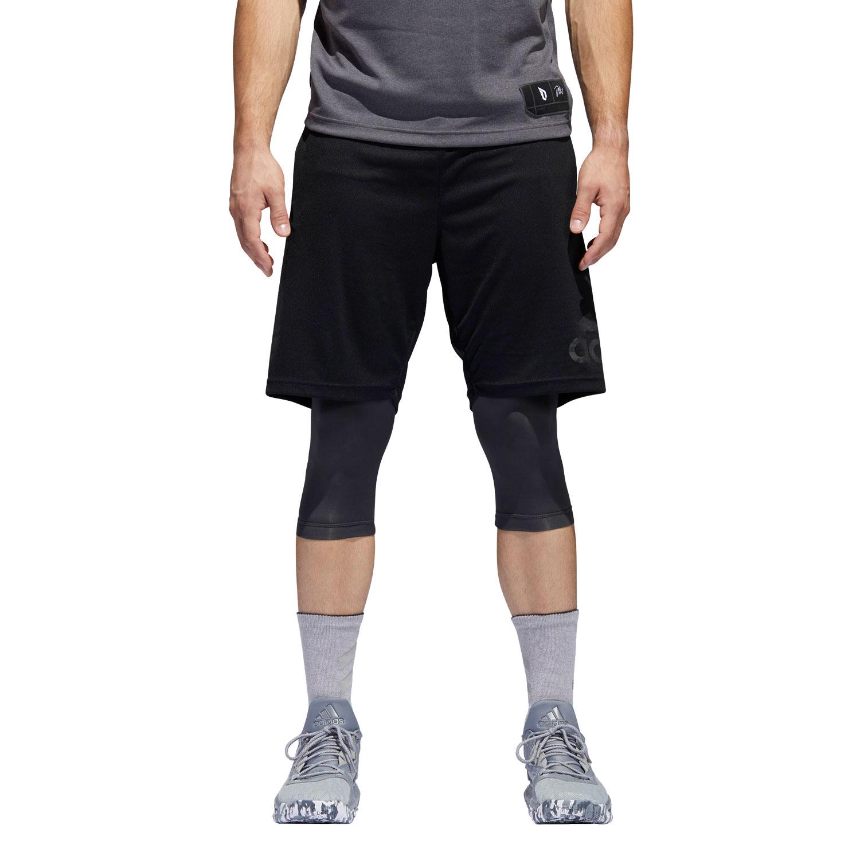 Adidas Dame Foundation 2in1 Herren Basketball Shorts – Bild 3