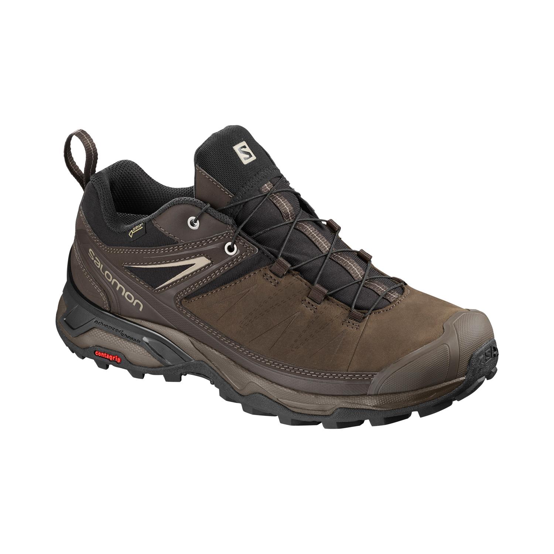 Salomon Schuhe X Ultra 3 LTR GTX Leder Laufschuhe Trail Hiking 404785 Braun Delicioso Bungee Cord Vintage Kaki
