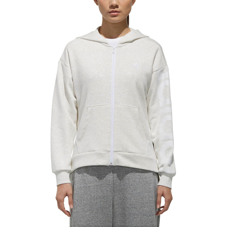 adidas W S2S Big Logo Fleece Hoodie Damen Sweater Jacke – Bild 2