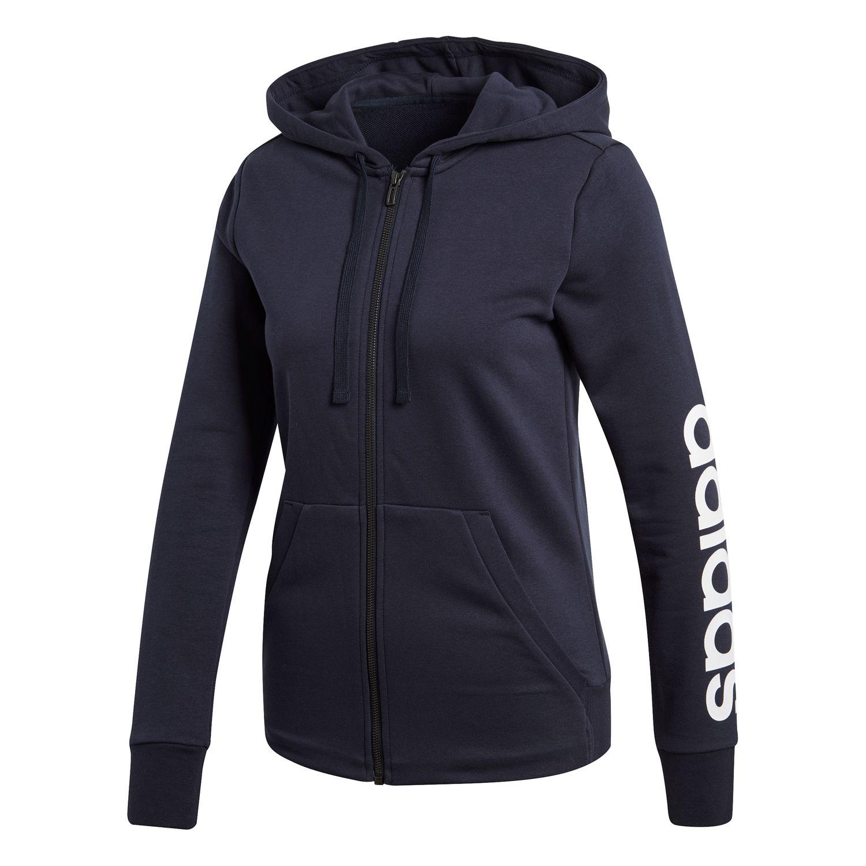 adidas Essentials Linear Damen Kapuzenjacke – Bild 1