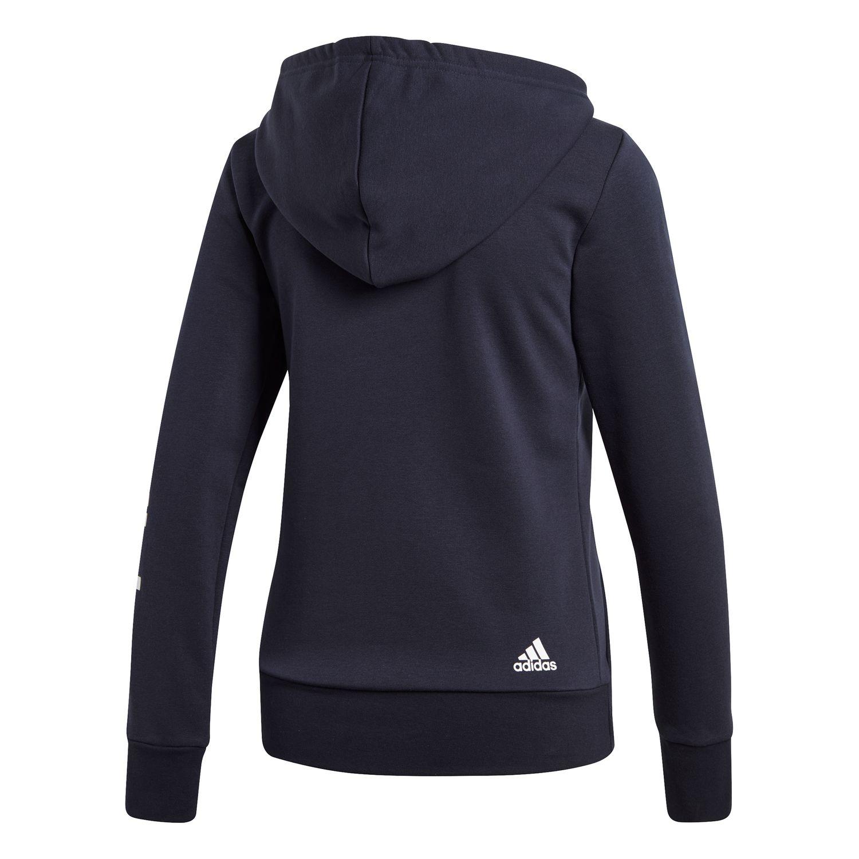 adidas Essentials Linear Damen Kapuzenjacke – Bild 2