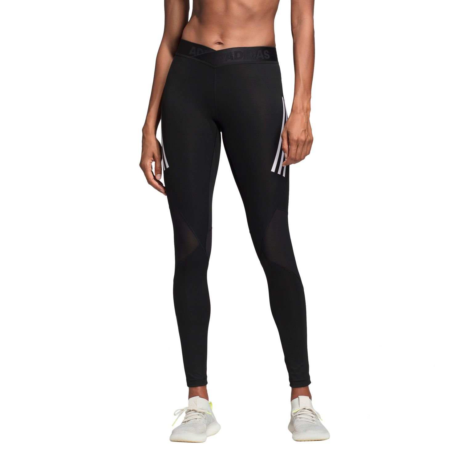 adidas Alphaskin Sport 3-Streifen lange Tight Damen Leggings – Bild 3