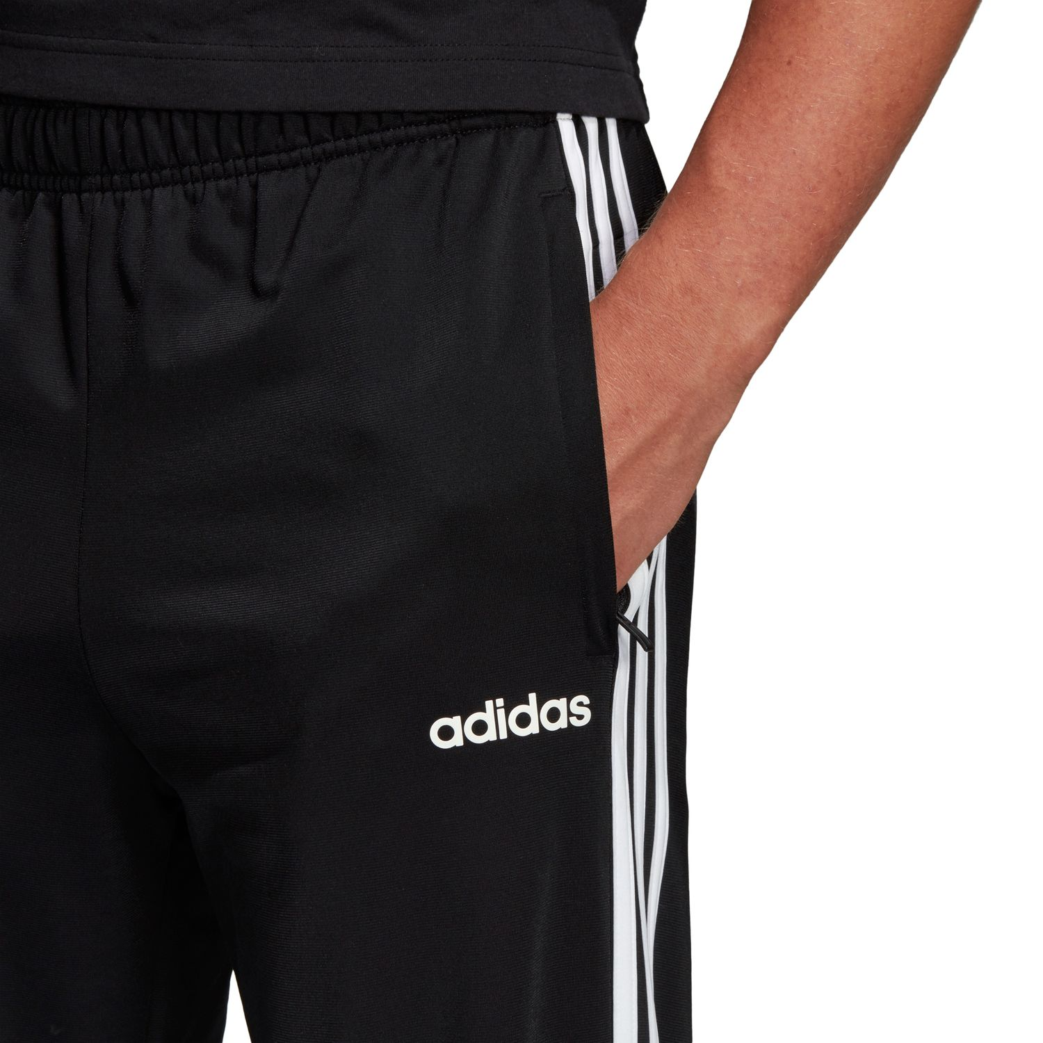 adidas Essentials 3-Streifen Tapered Herren Trainingshose – Bild 4