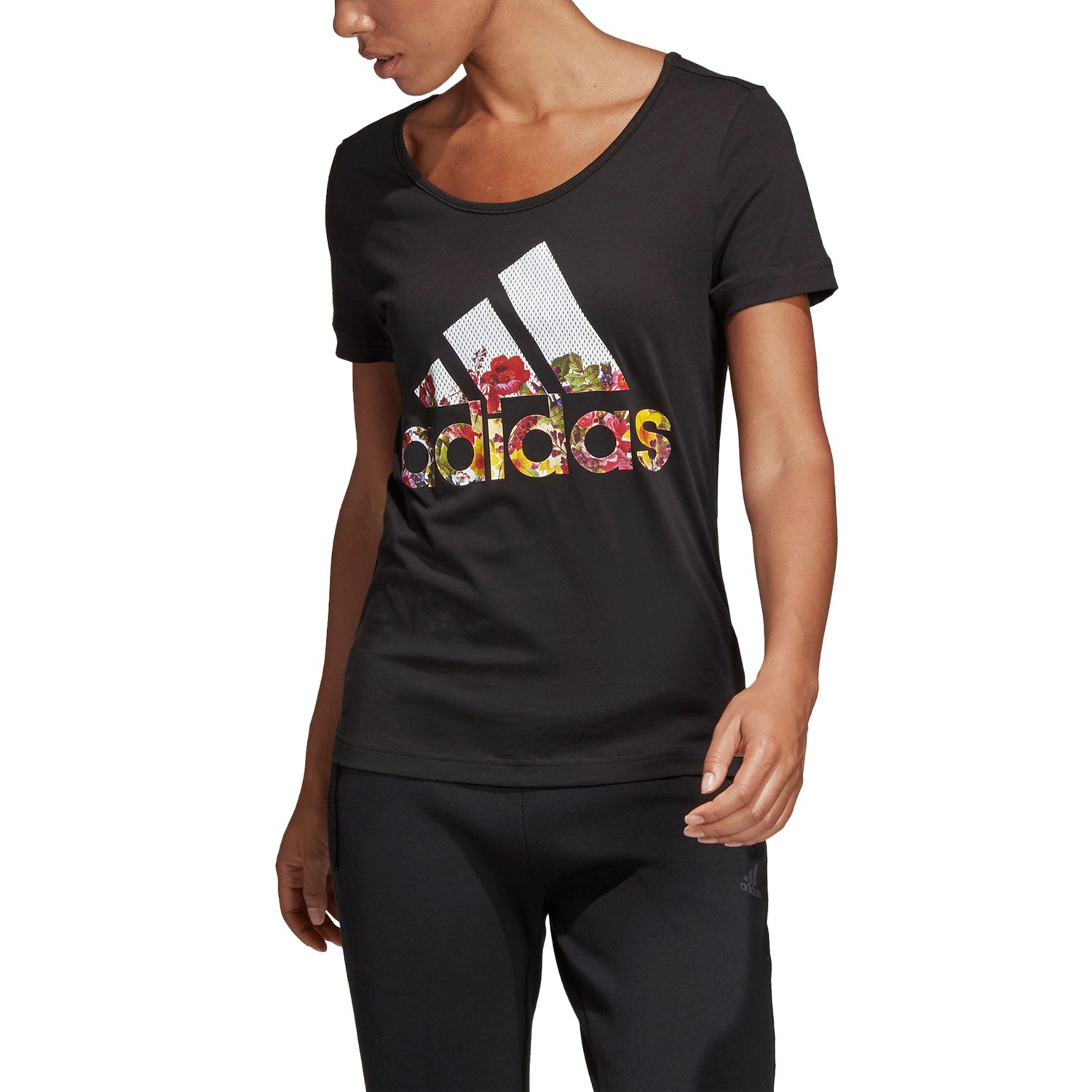 adidas Badge of Sport Flower Damen T-Shirt – Bild 3