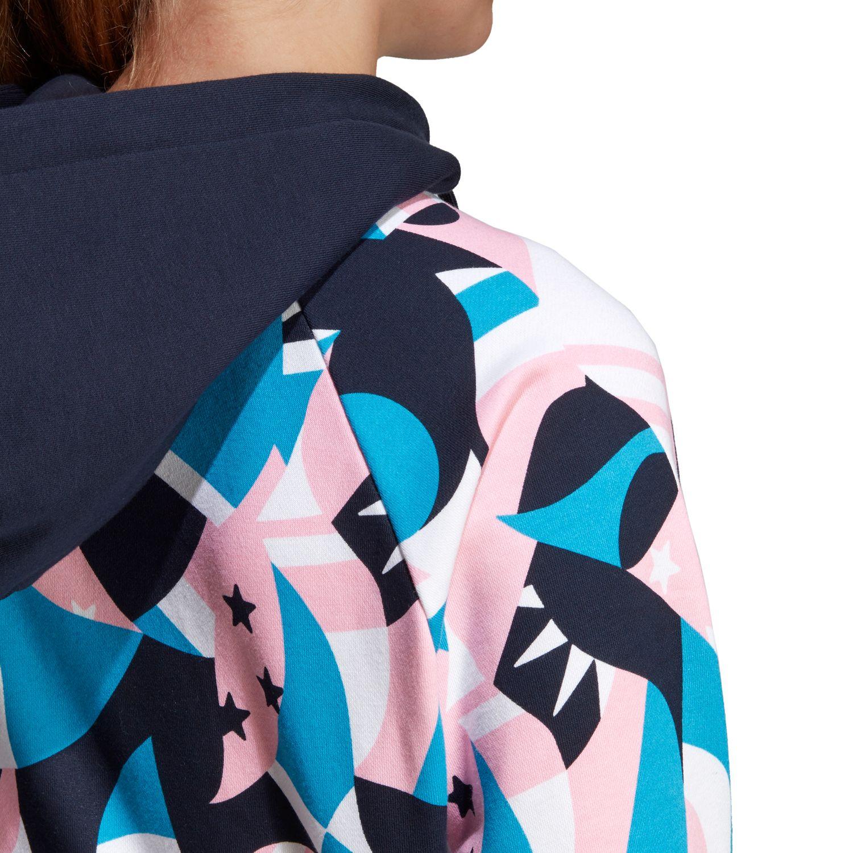 adidas Sport ID Printed Crop Damen Hoodie – Bild 5