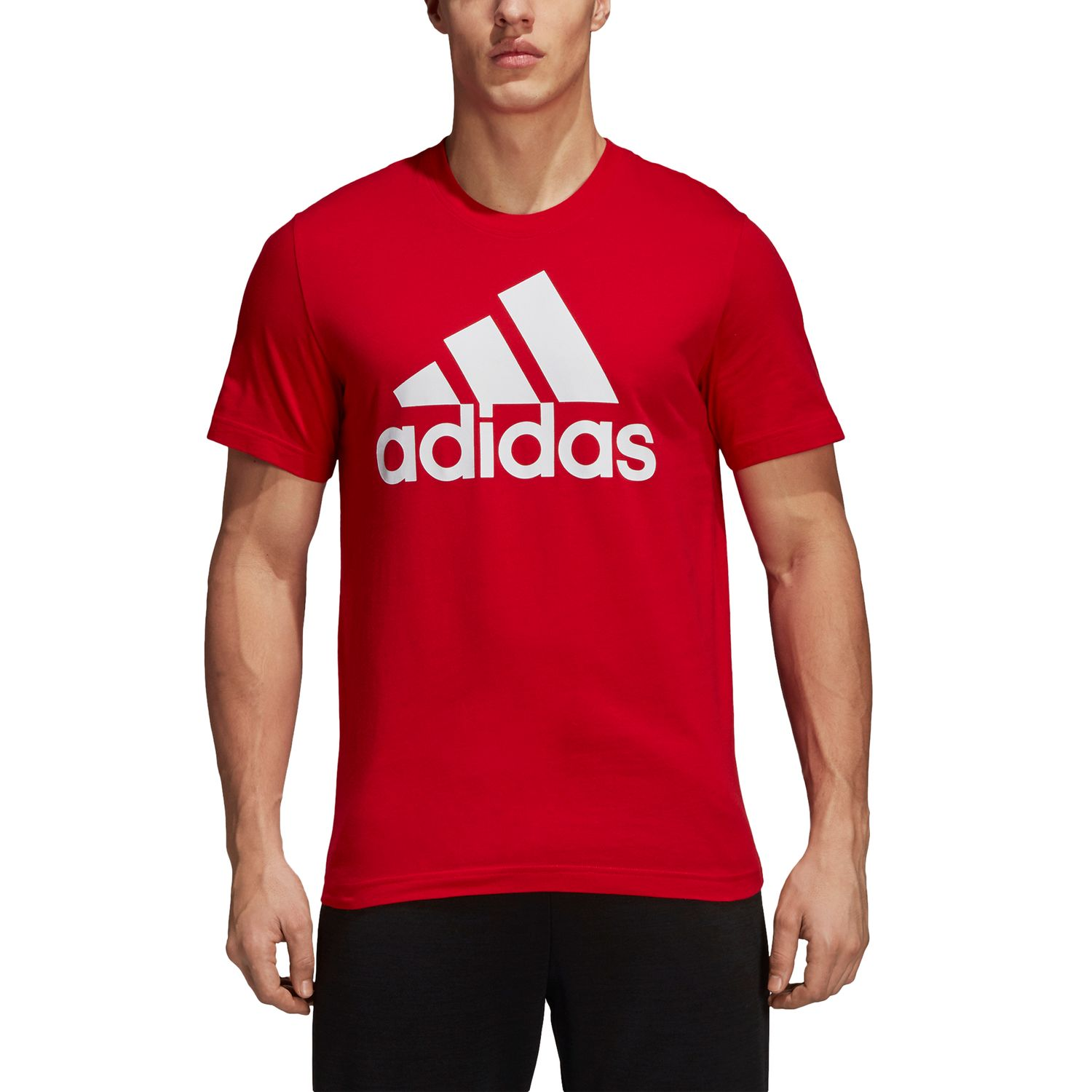adidas Essentials Linear Herren T-shirt  – Bild 3