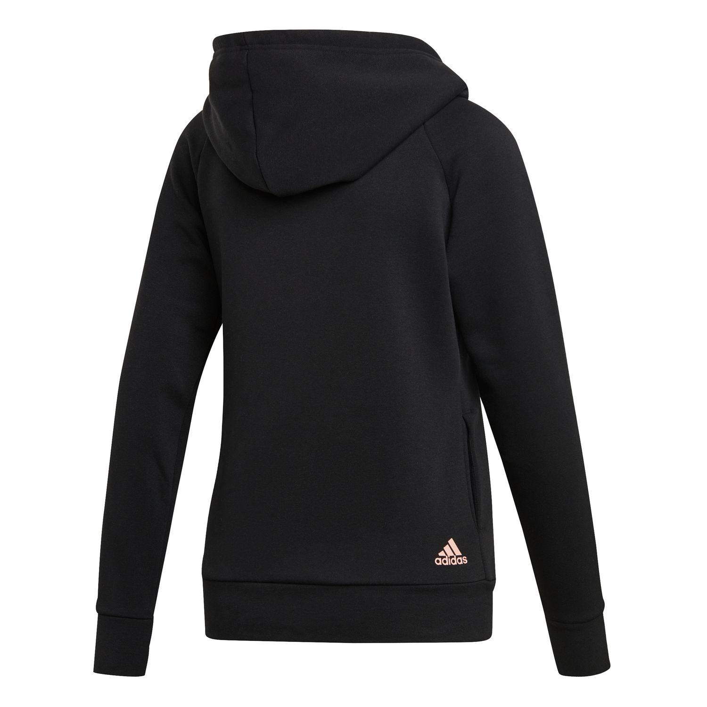 adidas Essentials Linear Overhead Fleece Damen Hoodie – Bild 2