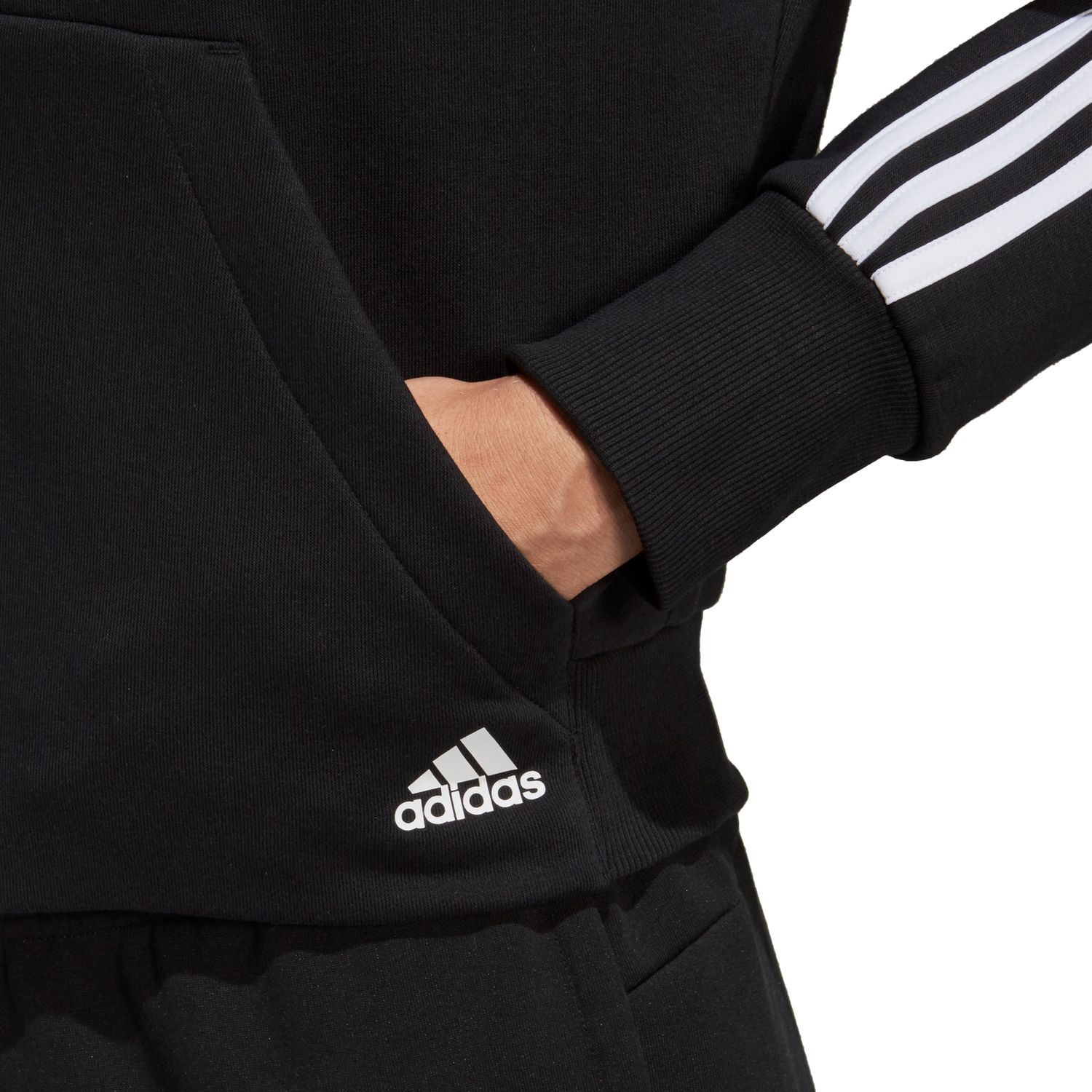 adidas Must Haves 3-Streifen French Terry Damen Kapuzenjacke – Bild 5