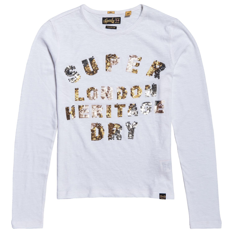 Superdry Aisha Sequin Damen Langarm-Shirt