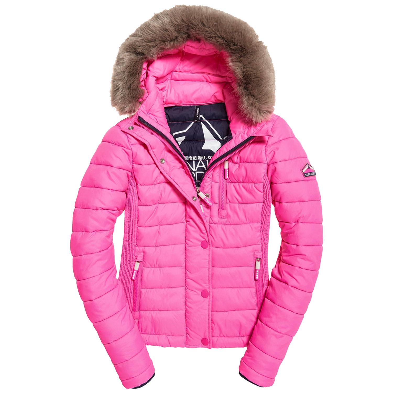 buy online cb250 58c2a Superdry Fuji Slim Double Ziphood Damen Jacke | Sport Lipp Onlineshop
