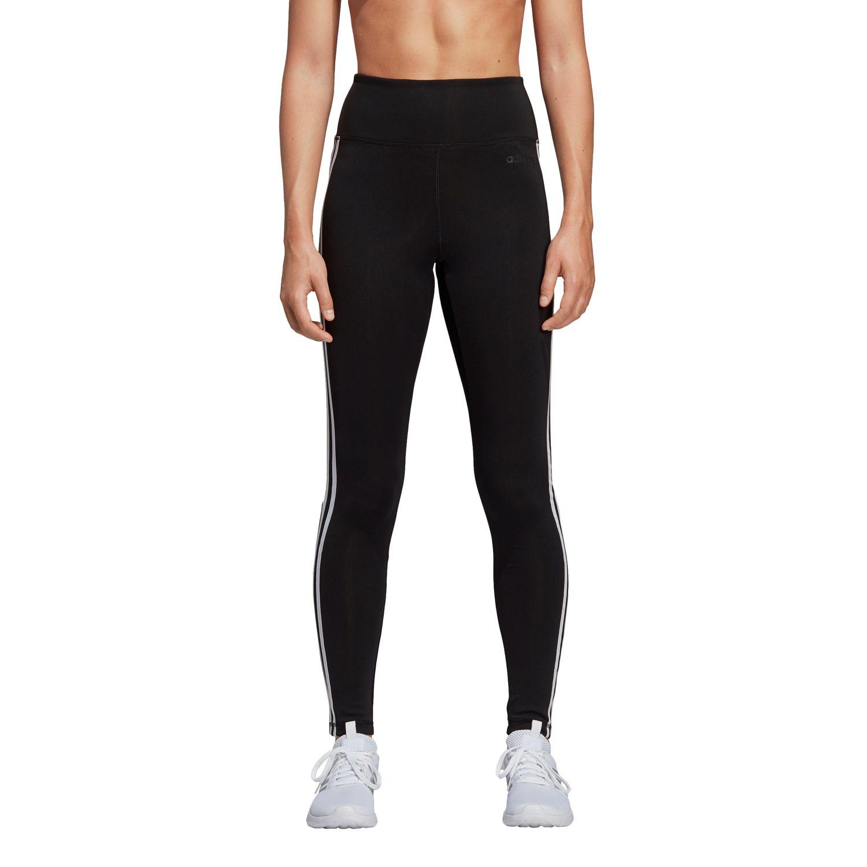 adidas Design 2 Move 3-Streifen High-Rise lange Damen Tight Leggings – Bild 3