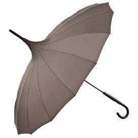 """VON LILIENFELD Regenschirm Pagode """"Cécile"""" braun Schirm"""
