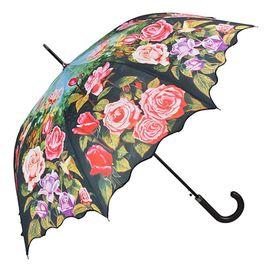 VON LILIENFELD Rosengarten Regenschirm Schirm automatik