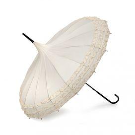 Lindy Lou Pagode Rüschen Regenschirm, cream