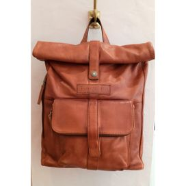 Sticks and Stones Messenger Backpack  Rucksack  Leder, cognac