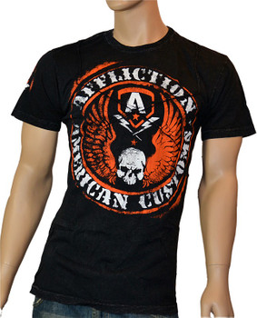 Affliction American Customs T-Shirt Flag Cross Tape