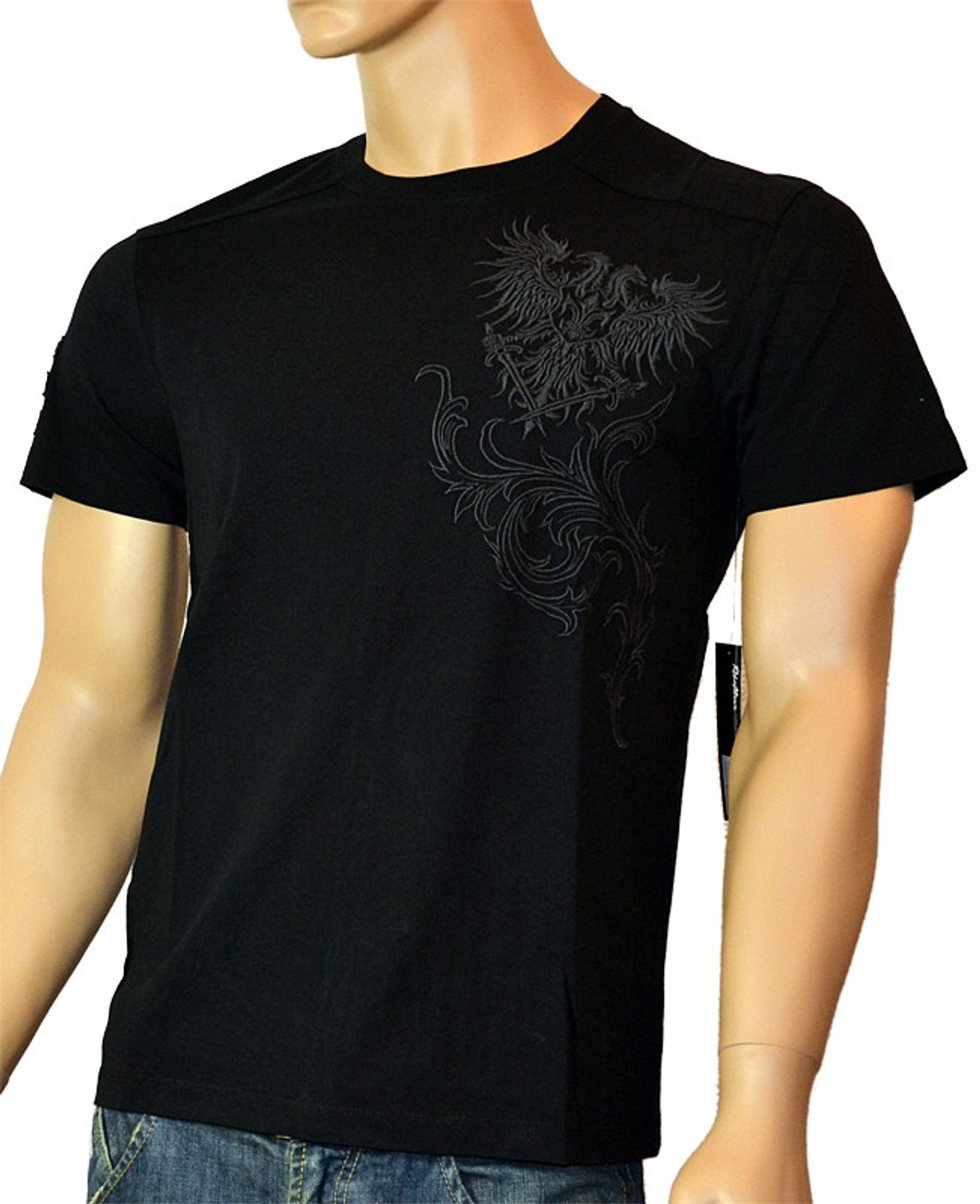 Rebel Spirit Herren T-Shirt Rebellious Elegance in Schwarz