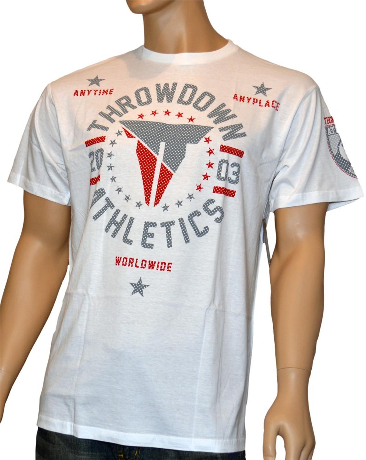 Throwdown Herren T-Shirt Defiant in Weiss