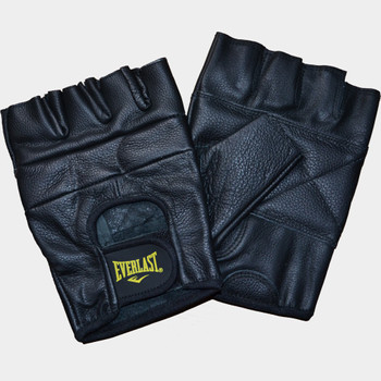 Everlast Fitnesshandschuhe Leder All Competition in Schwarz