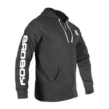 Bad Boy Herren Zip-Hoodie Core in Dunkelgrau