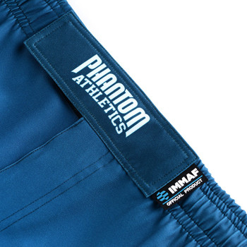 Phantom Athletics Fight Shorts STORM IMMAF in Blau-Weiss