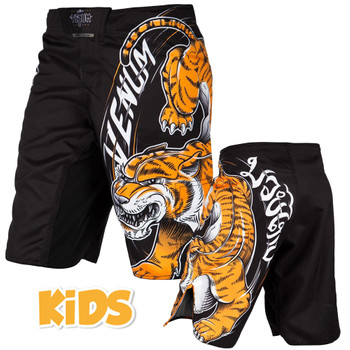 Venum Kids Fight Shorts Tiger King, schwarz, VENUM-03166