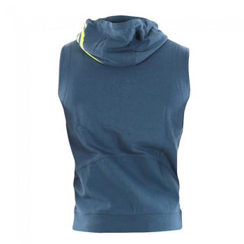adidas Herren ärmellos Zipped Hoodie Train in Grau-Gelb