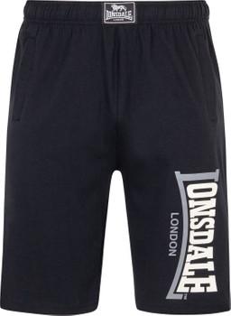 Lonsdale Herren Jersey Shorts Logo Jam, Schwarz