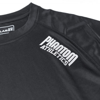 Phantom Athletics Kurzarm Trainingsshirt Tactic in Schwarz