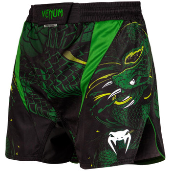 Venum Herren Fight Shorts Green Viper in Schwarz-Grün