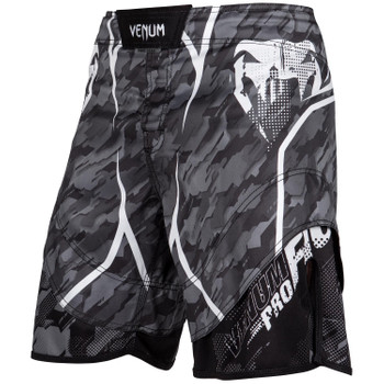 Venum Herren Fight Shorts Tecmo in Dunkelgrau