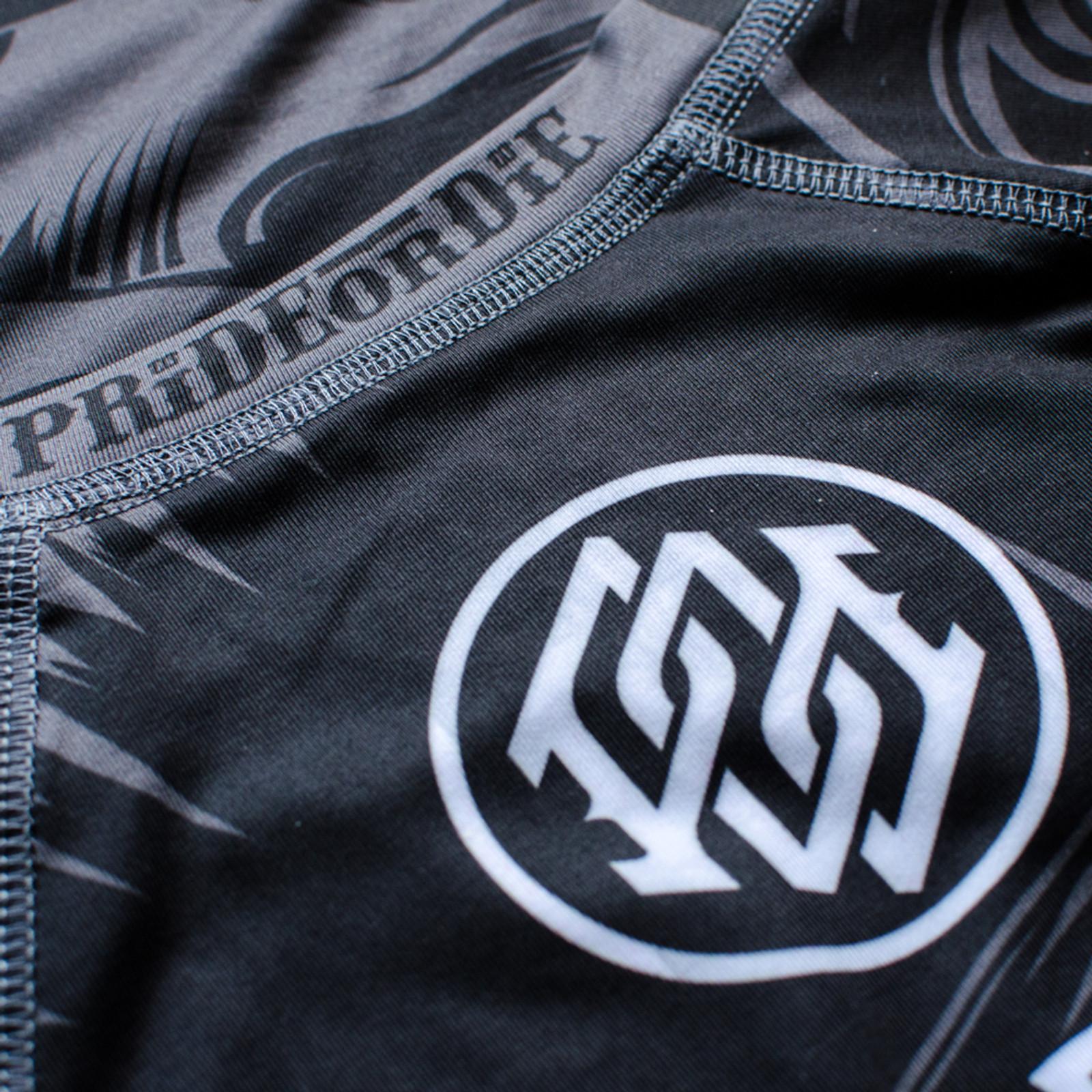 Pride or Die Langarm Rashguard Brawlerz Schwarz UVP 49,90 MMA BJJ Grappling
