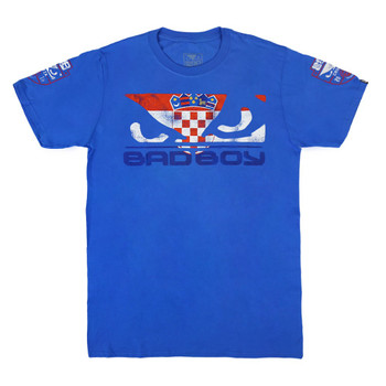Bad Boy Herren T-Shirt Pride Croatia Special Edition in Royalblau