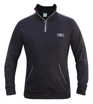 Bad Boy Herren Half Zip Pullover in Navy