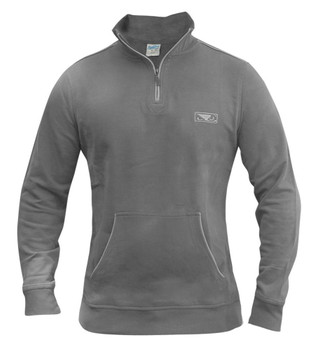Bad Boy Herren Half Zip Pullover in Grau