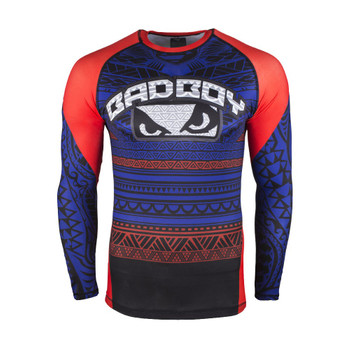 Bad Boy Herren Langarm Rashguard Art of Lua in Blau
