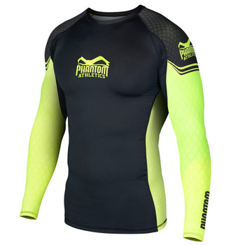 Phantom Athletics Herren Langarm Rashguard STORM Nitro in Neon