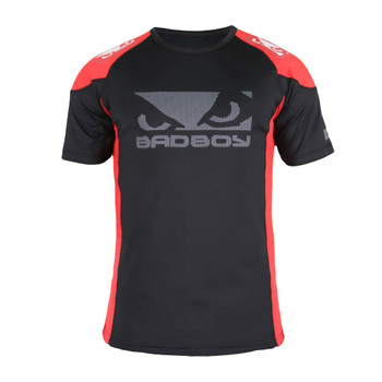 Bad Boy Herren T-Shirt Performance Walkout 2.0 in Schwarz-Rot