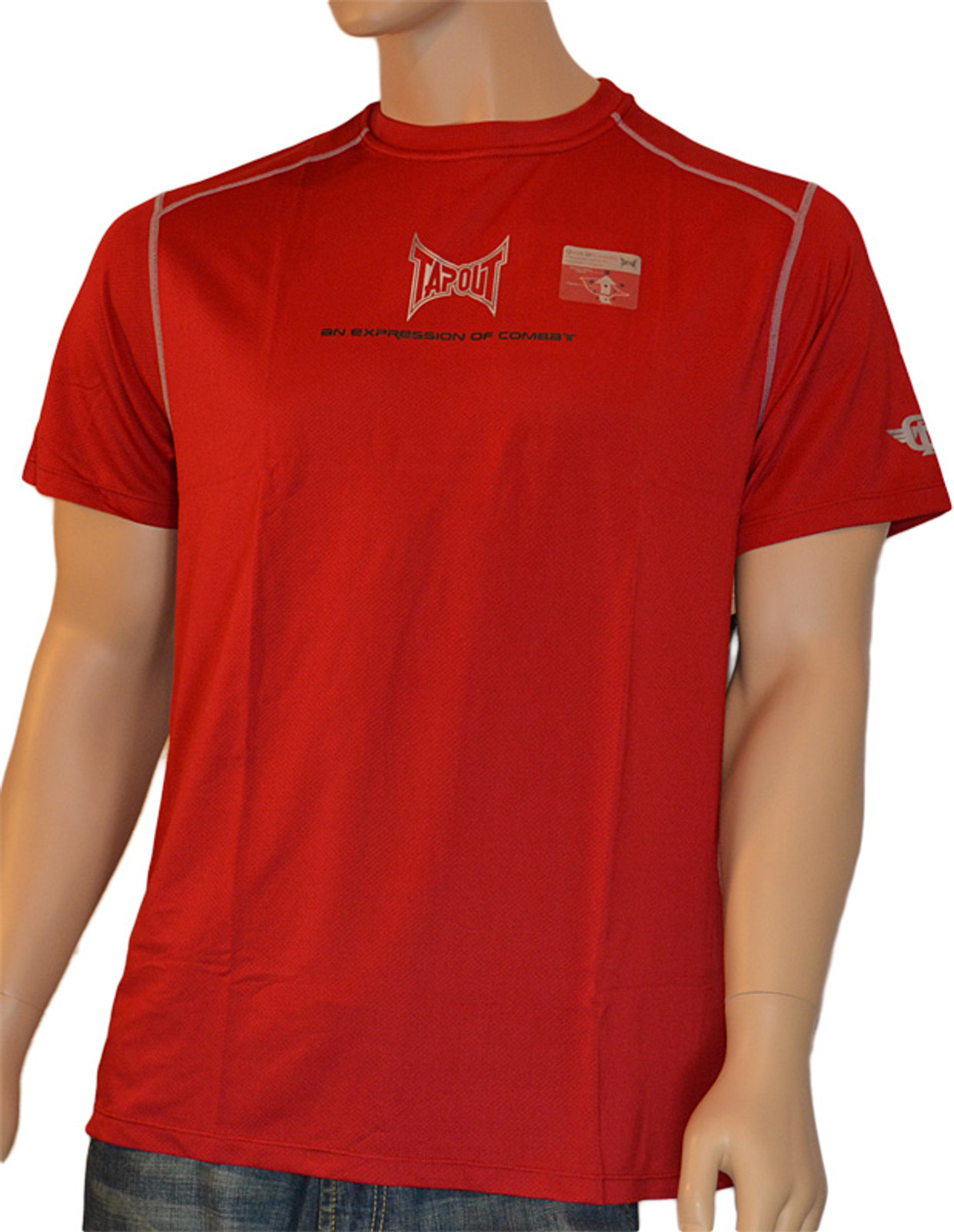 Tapout Pro Herren Kurzarm Kompression T-Shirt Fitted for Combat in Rot