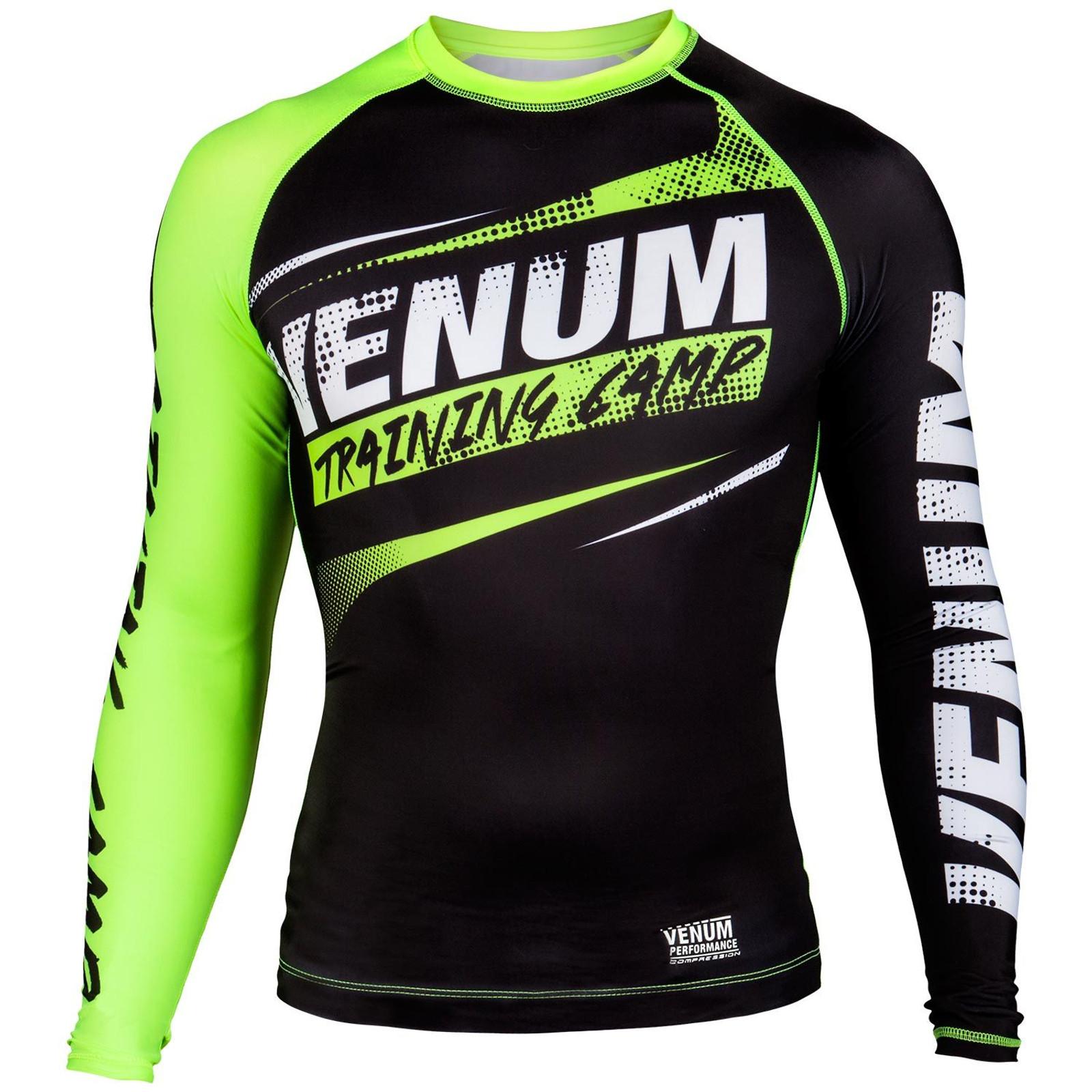 Venum Herren Compression T-Shirt Training Camp in Schwarz-Grün