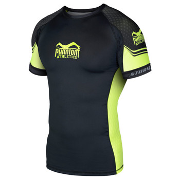 Phantom Athletics Herren Kurzarm Rashguard STORM Nitro in Neon