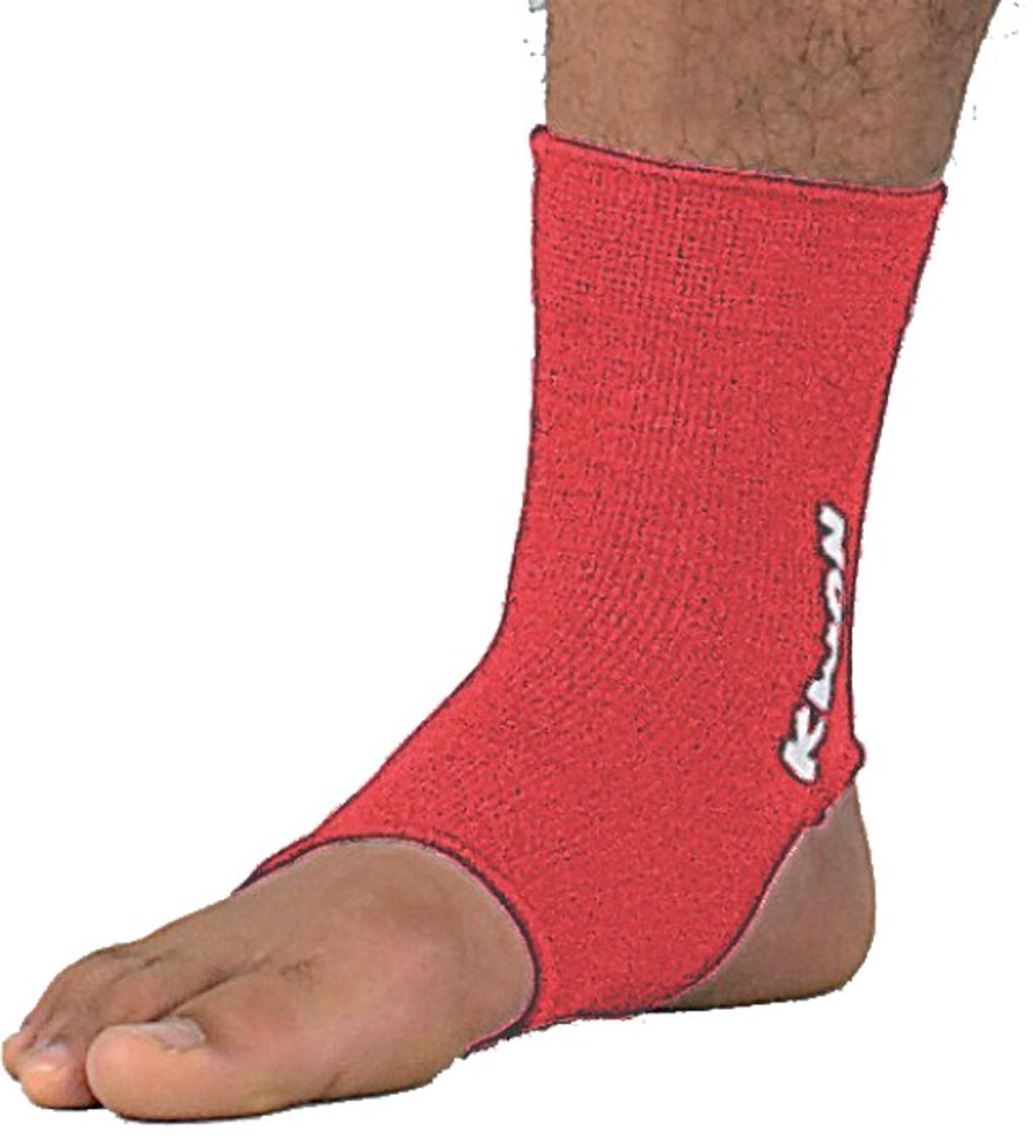Kwon elastische Fußbandage für Thai / Kickboxen in Rot