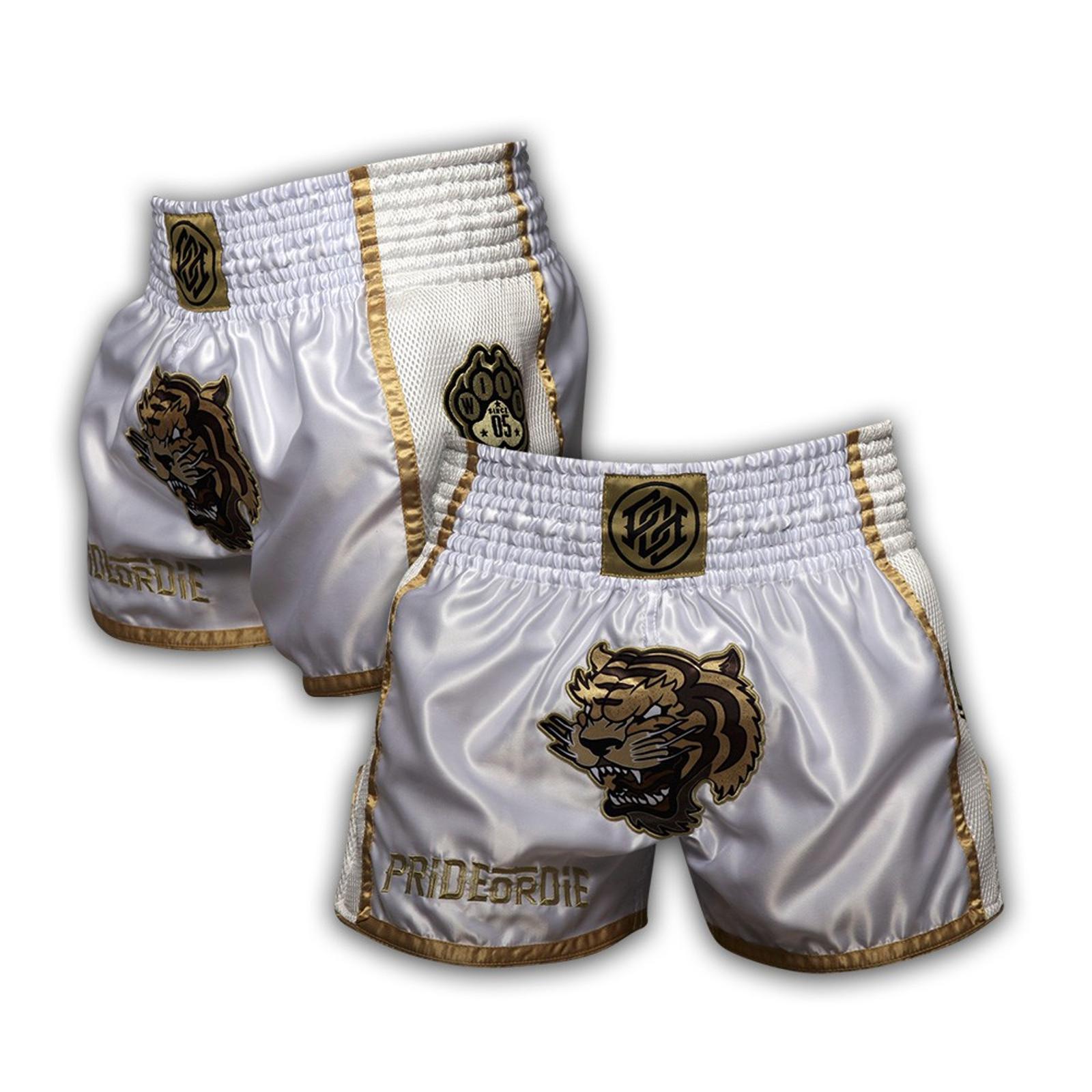 Pride Or Die Muay Thai Shorts Unleashed in Weiss