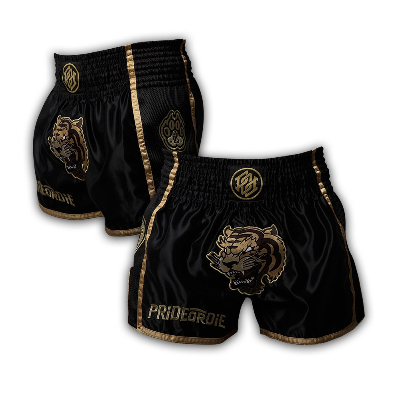 Pride Or Die Muay Thai Shorts Unleashed in Schwarz