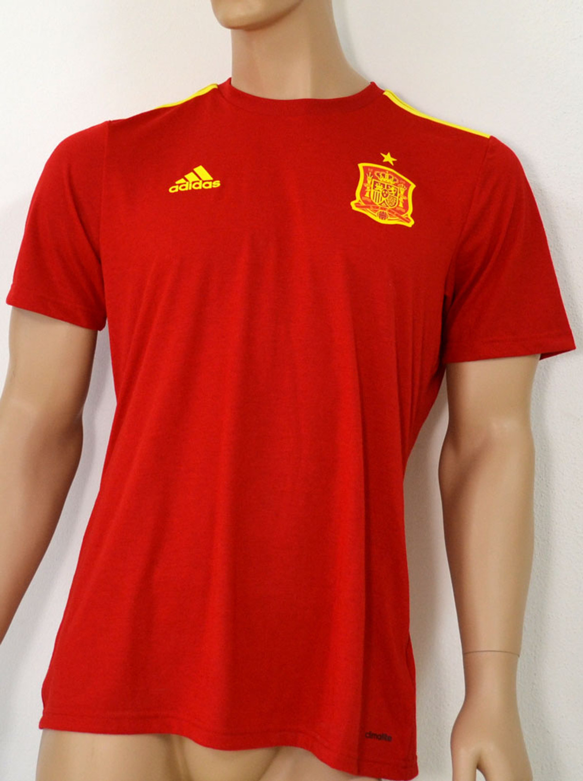 adidas Herren T-Shirt FEF Spain Home Fan in Rot