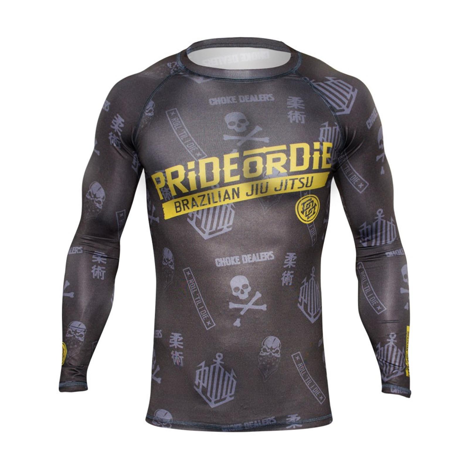 Pride Or Die Rashguard HANG LOOSE in Grau-Gelb