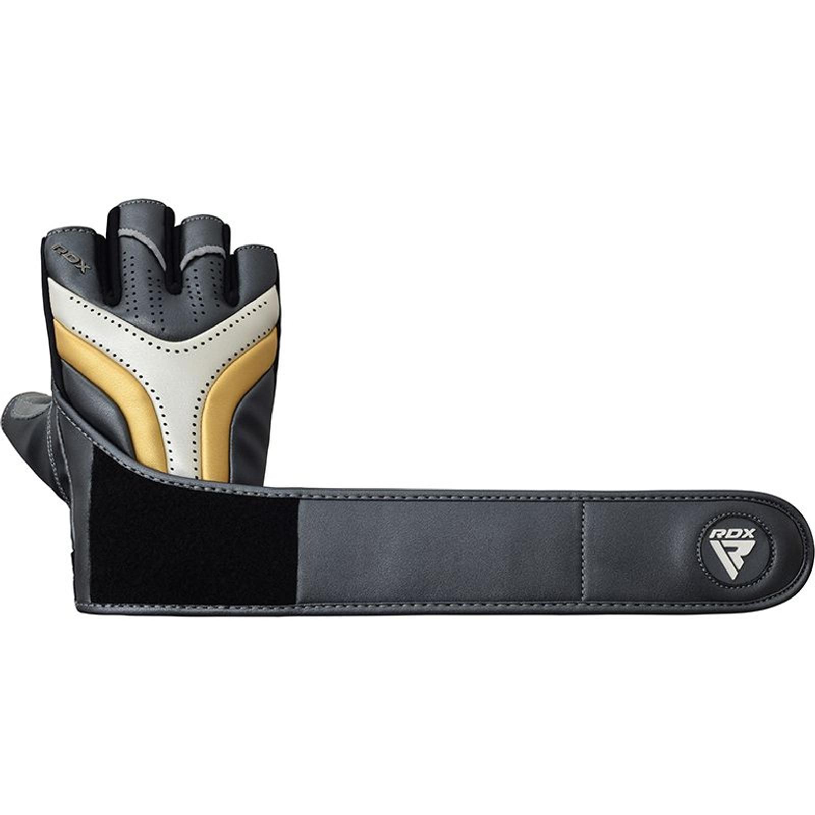 RDX MMA Sparring Handschuhe T17 Aura Schwarz S-XL Kunstleder Handschützer